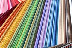 Buntes Papier - Farbproben Stockfotos