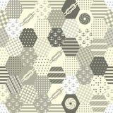 Buntes Patchwork-nahtlose Muster. Lizenzfreies Stockfoto