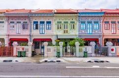 Buntes ` Peranakan-` Haus in Singapur lizenzfreie stockfotografie