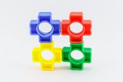 Buntes Plastikspielzeug Lizenzfreie Stockbilder