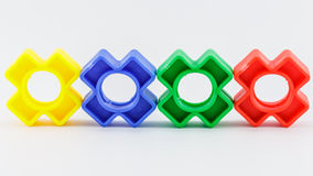 Buntes Plastikspielzeug Stockbilder