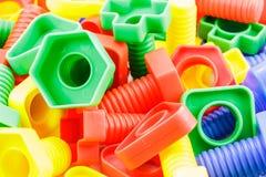 Buntes Plastikspielzeug Stockbild