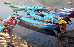 Buntes pokhara stockfotografie