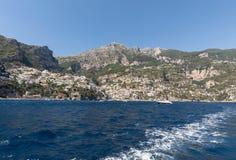 Buntes Positano, das Juwel der Amalfi-Küste, stockfotos