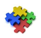 Buntes Puzzlespiel Stockfotografie