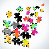 buntes Puzzlespiel 3d Lizenzfreie Stockfotografie