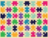 Buntes Puzzlespiel Lizenzfreie Stockbilder