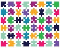 Buntes Puzzlespiel 2 Stockbild