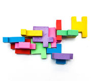 Buntes Puzzlespiel Lizenzfreies Stockbild