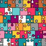 Nahtloses Muster des bunten Puzzlespiels Lizenzfreie Stockbilder