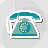 Buntes Retro- Telefondesign, Vektorillustration Stockbilder