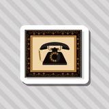 Buntes Retro- Telefondesign, Vektorillustration Stockfoto