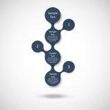 Buntes rundes Diagramm Metaball infographics lizenzfreie abbildung