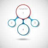 Buntes rundes Diagramm Metaball infographics vektor abbildung