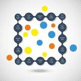 Buntes rundes Diagramm Metaball infographics stock abbildung