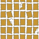 Buntes süßes nahtloses Muster der quadratischen Plätzchen Stockfotos