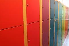 Buntes Schließfach Stockbilder