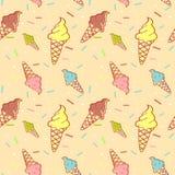 Buntes schmelzendes nahtloses Muster der Eiscreme Lizenzfreies Stockfoto