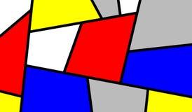 Buntes schräg liegendes Mondrian Kunst-Stück Stockbild