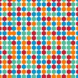 Buntes sechseckiges Musterhintergrund-Vektordesign Lizenzfreies Stockfoto