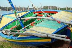 Buntes Segel-Boot Stockbilder