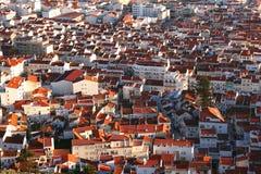 Buntes Stadtbild von Nazare, Portugal Stockfotos