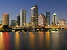 Buntes Stadtzentrum von Tampa lizenzfreie stockfotos