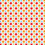 Buntes Stern-Vektor-Muster Lizenzfreies Stockfoto