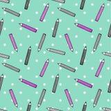 Buntes Stiftmuster auf Tupfenhintergrund Lizenzfreie Stockbilder