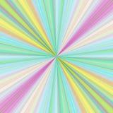 Buntes Strahlnexplosions-Hintergrunddesign lizenzfreie abbildung