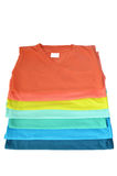 Buntes T-Shirt stockfoto