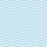 Buntes Tapetenwasser des blauen Wellenseeozeanvektorillustrationszusammenfassungsmusterhintergrundes lizenzfreie abbildung