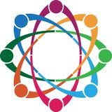 Buntes Teamarbeitslogo - Vektorillustration Lizenzfreies Stockbild