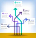 Buntes 5-teiliges infographic Stockfotografie