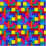 Buntes Tetris-Muster Stockfoto