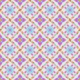 Buntes thailändisches nahtloses Muster der traditionellen Kunst vektor abbildung