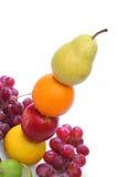 Buntes Totem der frischen Früchte stockfoto