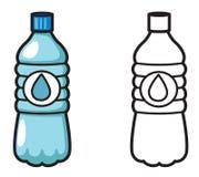 Buntes und Schwarzweiss-Wasser für Malbuch lizenzfreie abbildung