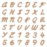 Buntes Vektor-Seil-Alphabet stock abbildung