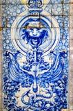 Buntes Wandfliesendesign von Lissabon, Portugal Lizenzfreie Stockbilder