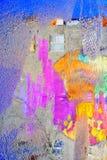 Buntes Wasserreflexionshaus in der Pfütze Reflexion ` s des Frühlinges Lizenzfreies Stockbild