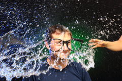 Buntes Wasserspritzen Stockfotos