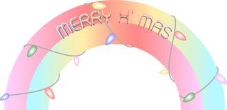 Buntes Weihnachten LED beleuchtet Dekoration Lizenzfreies Stockbild