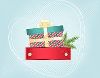 Buntes Weihnachten und neue Jahre Karte Lizenzfreies Stockfoto