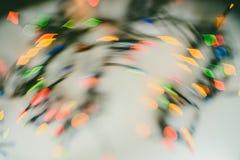Buntes Weihnachtslichter bokeh Lizenzfreie Stockfotos