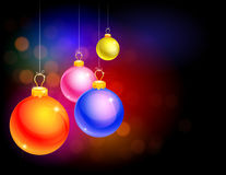 Buntes Weihnachtsthema Lizenzfreies Stockfoto