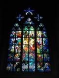 Buntglas Stockbild
