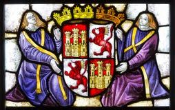 Buntglas Alcazar von Segovia spanien Lizenzfreies Stockbild