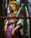 Buntglas - Allegorie auf dem Leiden von Jesus Stockfoto