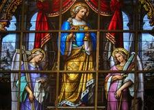 Buntglas - Allegorie auf dem Leiden von Jesus Stockfotografie